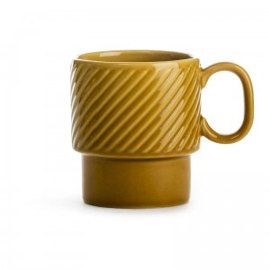 Coffee - filiżanka do kawy, żółta, ceramika, 0,25 l, wys. 9 cm Sagaform