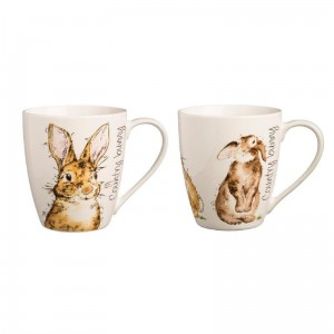 KUBEK 350ML, BACK TO FRONT BUNNY MUG, PRICE & KENSINGTON