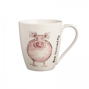 KUBEK 350ML, BACK TO FRONT PIG MUG, PRICE & KENSINGTON